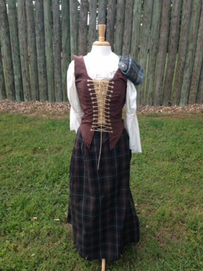 Lady Fraser 18th Century Custom size cotton twill skirt